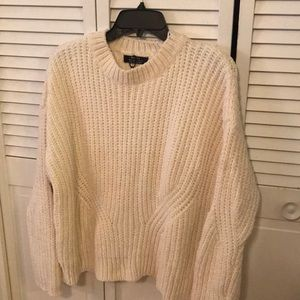 NWOT Off white Chenille Cozy Soft Sweater